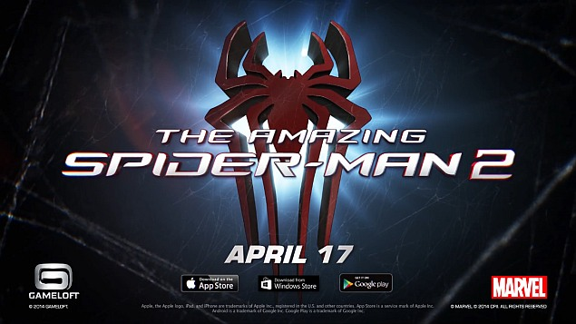 Amazing Spider-Man 2 launching April 17 for Android, iOS and Windows Phone