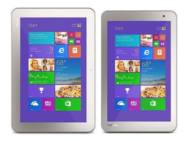 Toshiba Encore 2 Windows 8.1 Tablets and Excite Go Android Tablet Launched