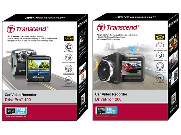 Transcend DrivePro 100, DrivePro 200 Dashcams Launched in India