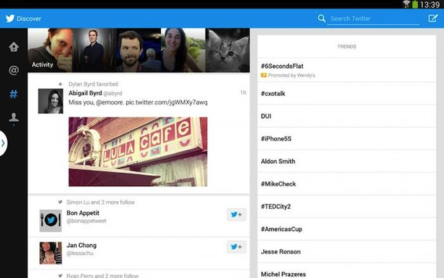 Twitter launches Android tablet app, initially just for Galaxy Note 10.1 2014