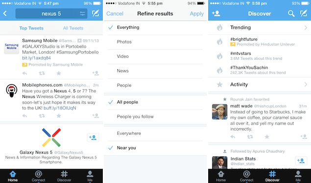 Twitter Updates Android And IOS Apps With New Search