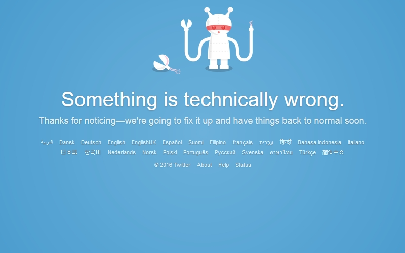 Twitter Down in Some Parts of the World