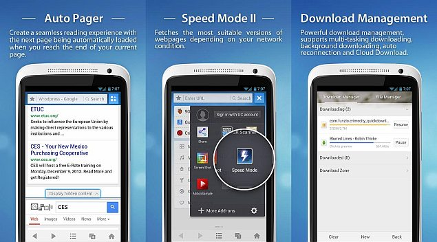 UC Browser 9 6 for Android released with Easy Downloading
