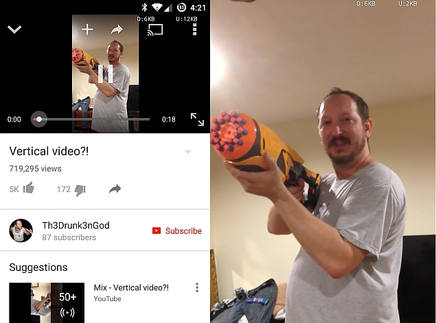 YouTube for Android Now Shows Vertical Videos Properly in Full Screen