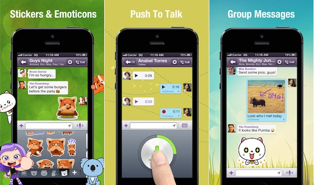 Viber updates Android and iPhone apps with Push to Talk, Stickers and more