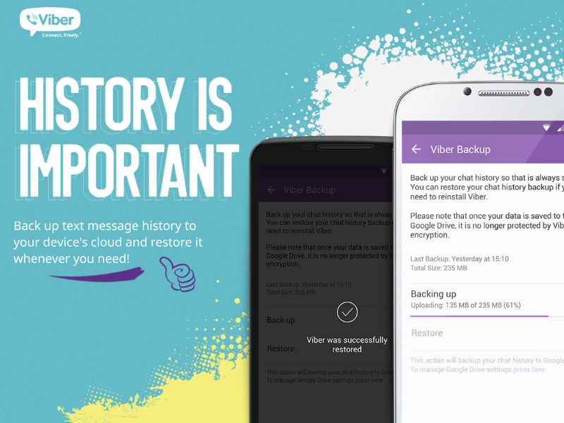 Viber receives Gif picture aid, cash switch, and Backup and repair
