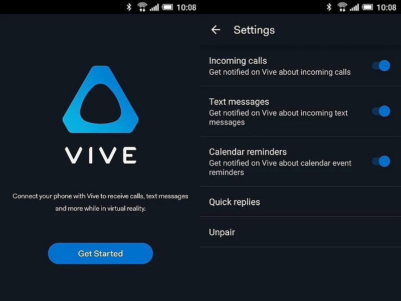 HTC Vive Gets a Companion App to Deliver Notifications in Virtual Reality