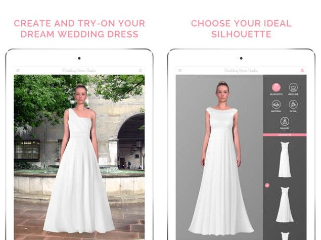 now apps to help brides track down the perfect wedding gown