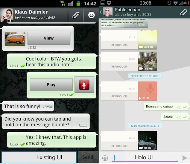 Whatsapp for Android gets a new beta version, brings Holo UI