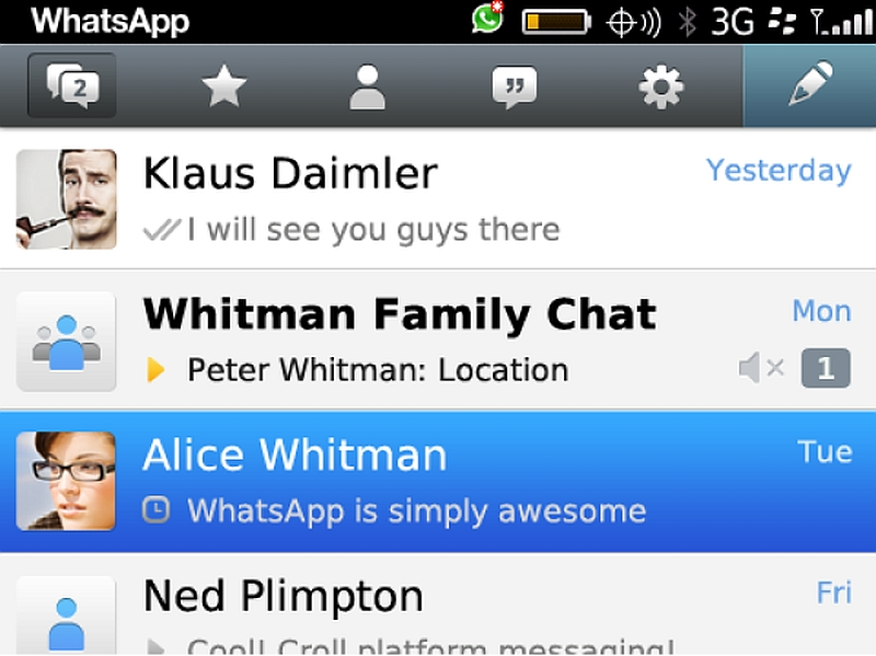 WhatsApp for BlackBerry 10 OS Update Brings Web Link Previews and More