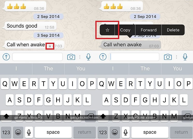 WhatsApp for iOS Updated With 'Starred Messages' Bookmarking Feature