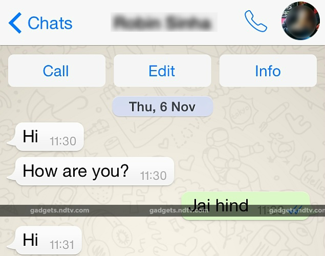 Voice Calling Buttons Show Up in WhatsApp iPhone App