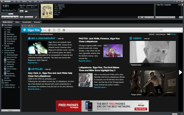 Winamp and associated services to shut down on December 20