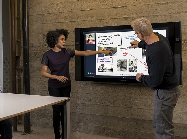 Microsoft Surface Hub: An 84-Inch Multi-Touch 4K Display With Windows 10