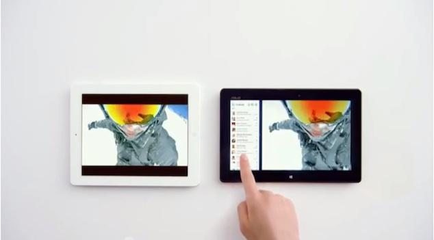 New Microsoft ad mocks Apple's iPad with Siri declaring Windows 8 tablet a winner