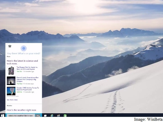 Microsoft Windows 10 Early Build Leaks; Shows Cortana Integration and More