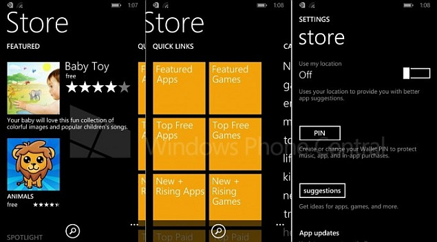 Leaked Windows Phone 8.1 images show new Windows Phone Store app