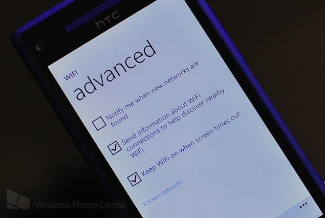 HTC 8X OTA update brings persistent Wi-Fi to Windows Phone 8