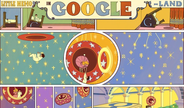 Winsor McCay's Little Nemo in Slumberland celebrated in Google doodle