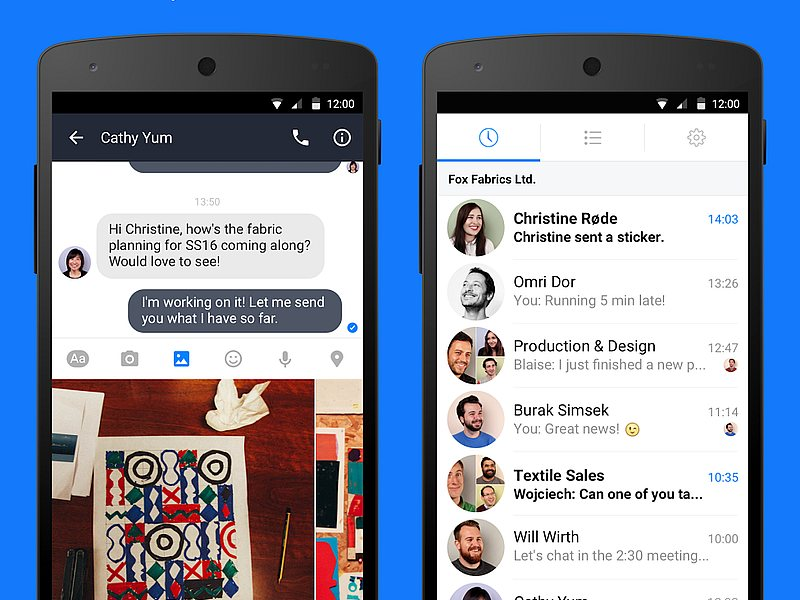 Facebook Launches Work Chat App for Android