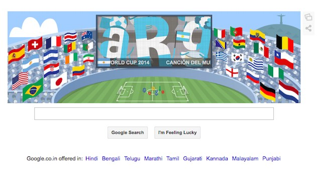 Google Doodles all World Cup 2014 Countries Ahead of Germany vs Argentina Final