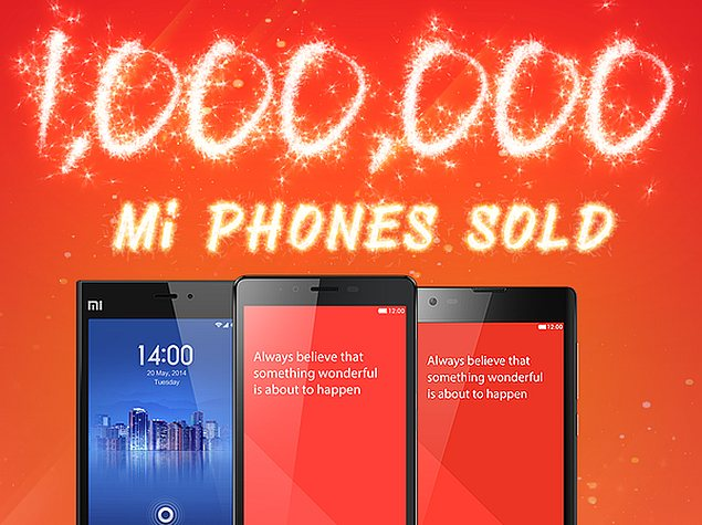 Xiaomi Claims It Has Sold 1 Million Smartphones in India