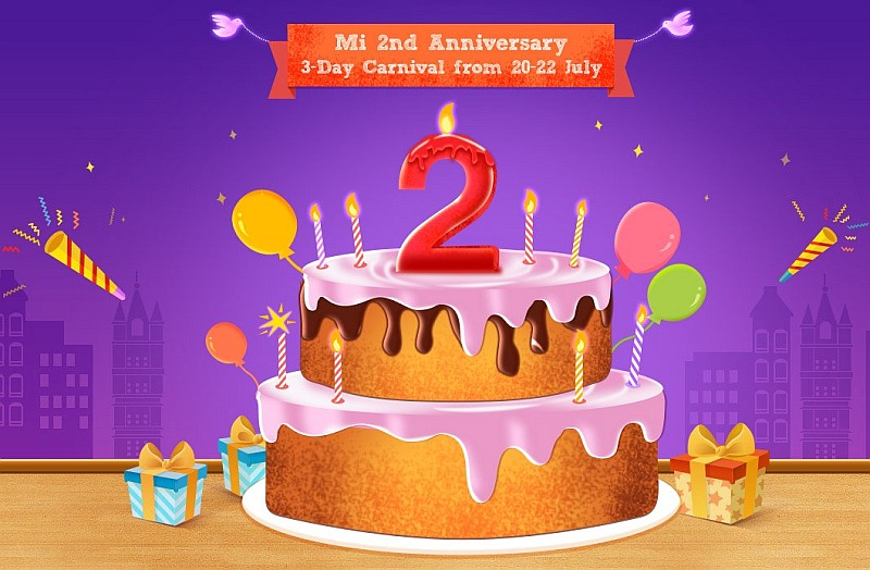 Xiaomi India's Mi 2nd Anniversary Sale Starts Today With Discounts, Re. 1 Flash Sales