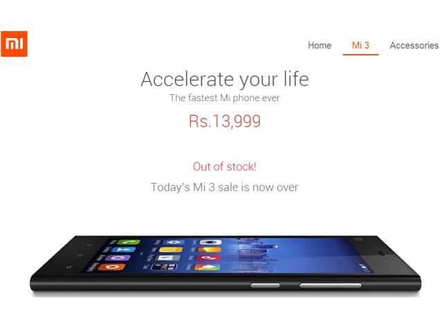 Sixth Xiaomi Mi 3 Flash Sale Sees 20,000 Phones Sold in 2.4 Seconds