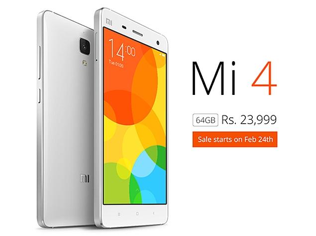 Xiaomi Mi 4 64GB Variant India Price, Launch Date Revealed