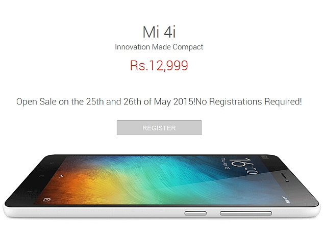 Xiaomi Mi 4i to Be Available in Open Sale Without Registration Next Week