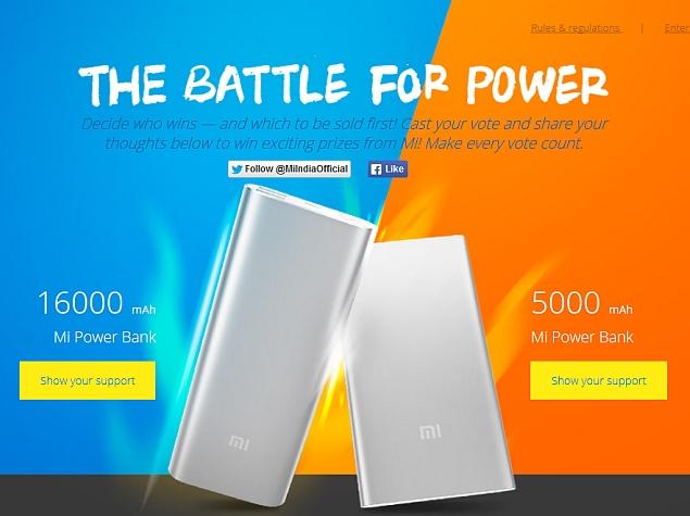 Xiaomi Launches 16000mAh and 5000mAh Mi Power Banks in India