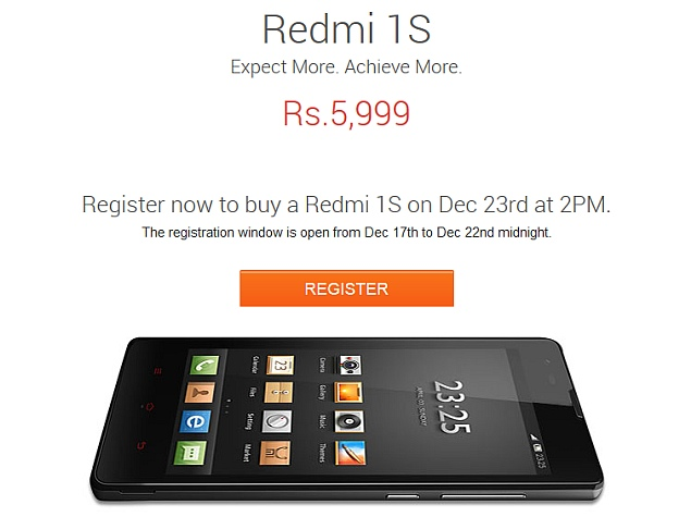 Xiaomi Redmi 1S to Go on Sale Again on Tuesday Following Lift of Ban