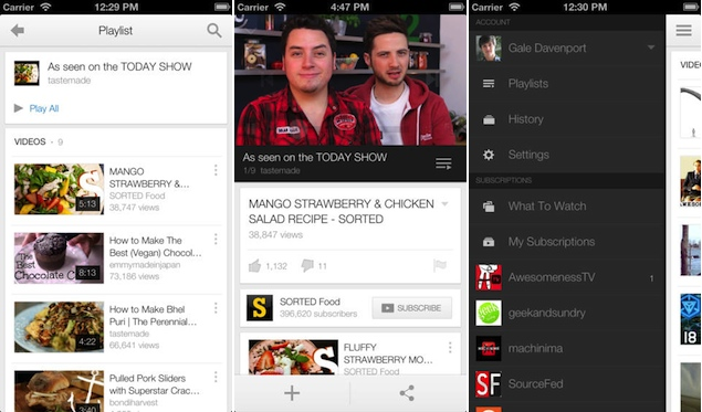 YouTube app for iOS and Android update brings video