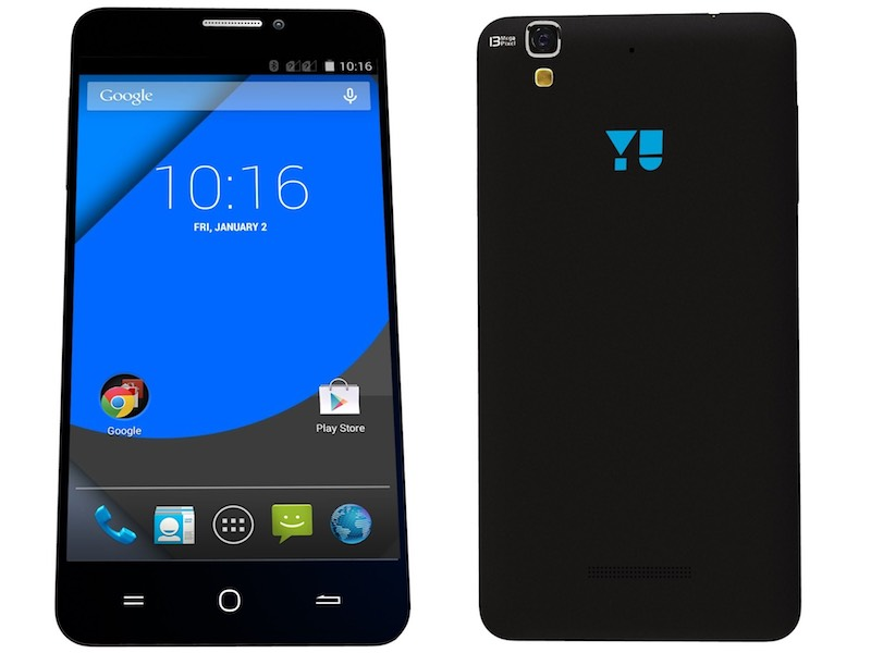 Yu Yureka Plus With Android - Not Cyanogen OS - Available via Amazon at Rs. 8,999