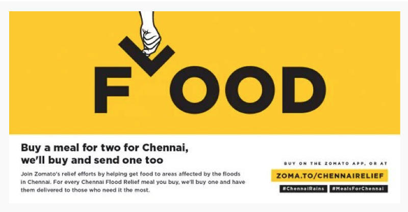 Chennai Rains: Zomato Pauses Orders on Flood Relief Page