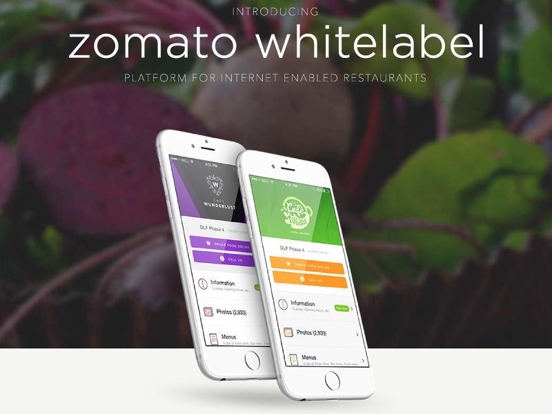 Zomato Launches Whitelabel App Platform for Restaurants