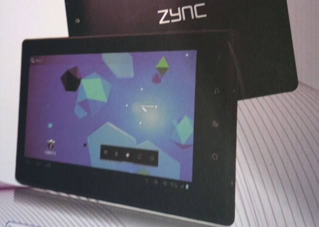 Zync announces 7-inch 3G tablet for Rs. 11,990
