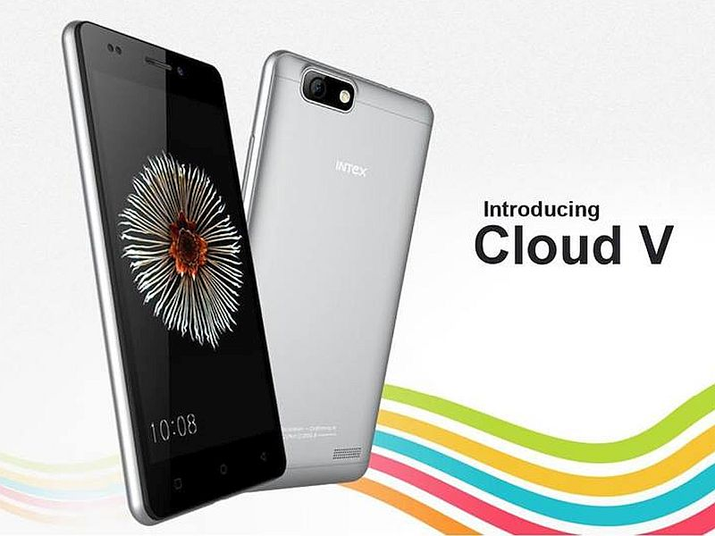 Intex Cloud V With 8-Megapixel Camera Available Online at Rs. 3,999
