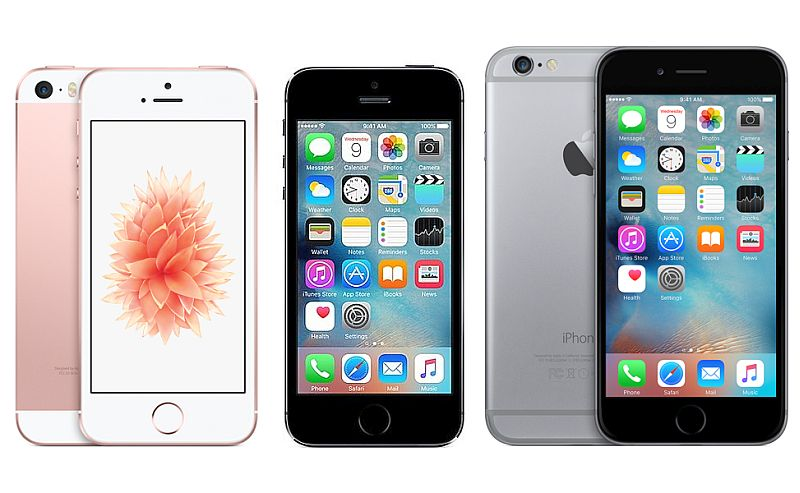 iphone 4 vs iphone 5s apple iphone se vs iphone 5s vs iphone 6s ndtv 17345