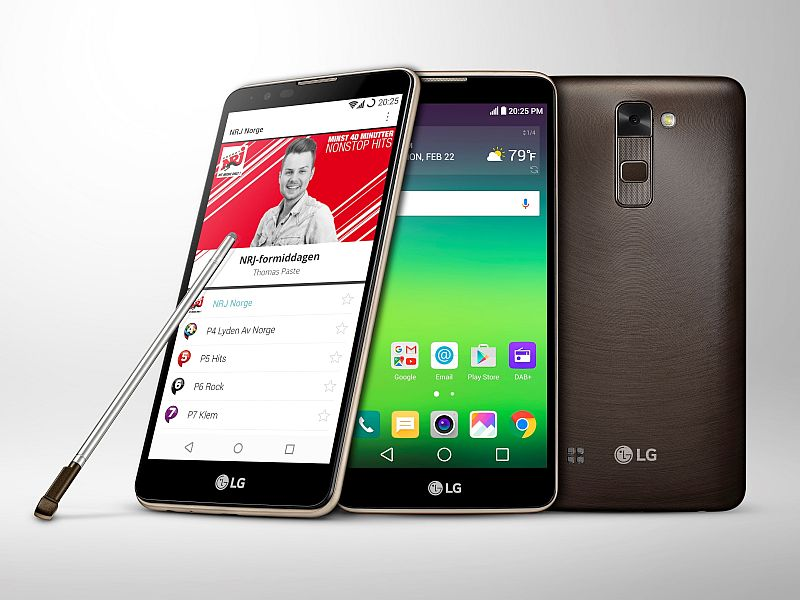 LG Stylus 2 Variant With DAB+ for Digital Radio Broadcasting