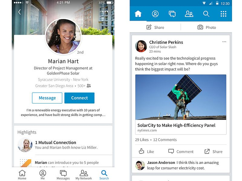 LinkedIn's Redesigned Mobile App Now Available for Android