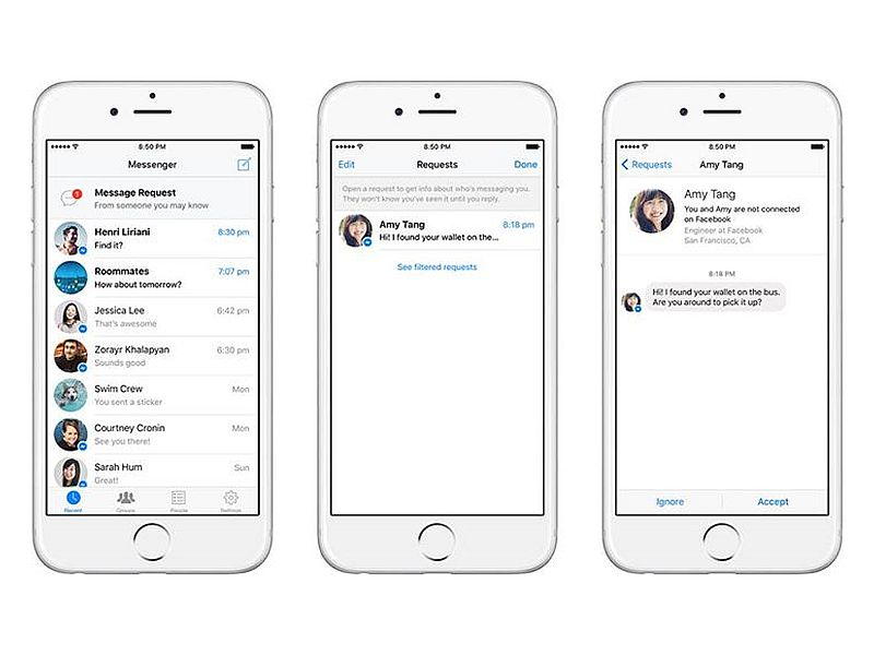 Facebook Message Requests for Messenger Lets You Chat With