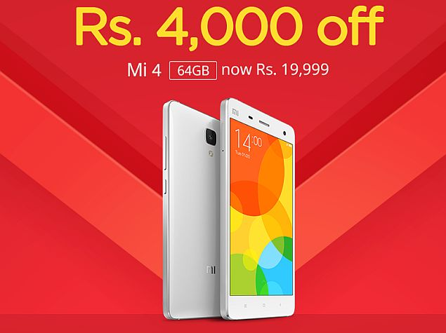 Xiaomi Mi 4 64GB Variant Price in India Slashed