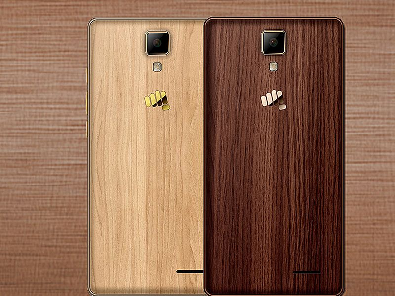 Micromax Canvas 5 Lite Special Edition With Wood-Finish Rear Panel Goes Official