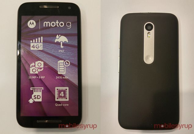 free shipping 86ee9 201b7 Moto G (Gen 3) Tipped to Be Water Proof, Feature 2GB of RAM ...