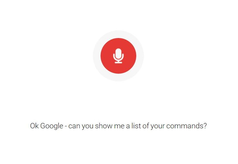 Complete List of 'Ok Google' Voice Commands Published