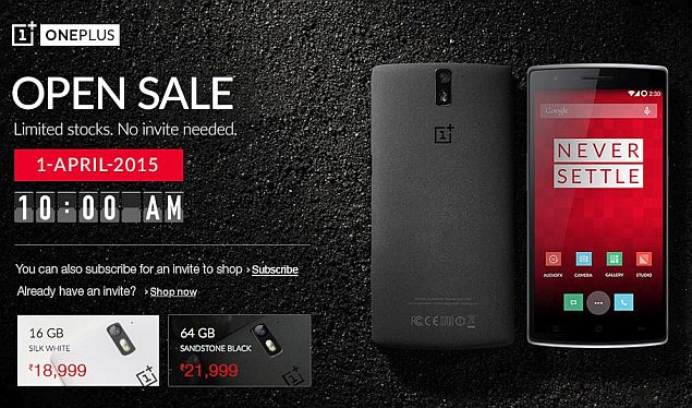 OnePlus One to Be Available in India Without Invitation on Wednesday