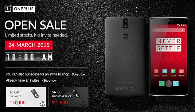 OnePlus One to be Available in India Without Invitation on Tuesday