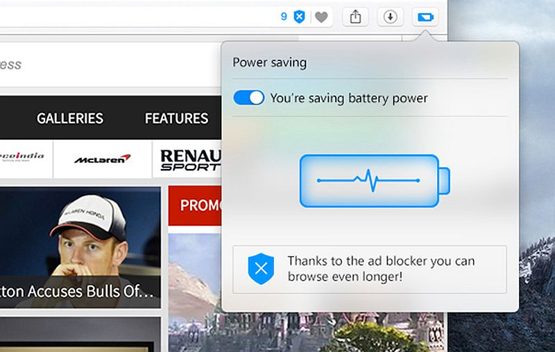 Opera's New Power Saving Mode Can 'Extend Laptop Battery Life by 50 Percent'