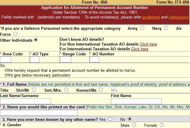 How To Submit Pan Card Application Online Ndtv